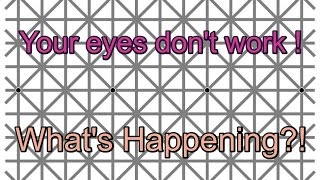 Amazing You Can't see the Dots Illusion