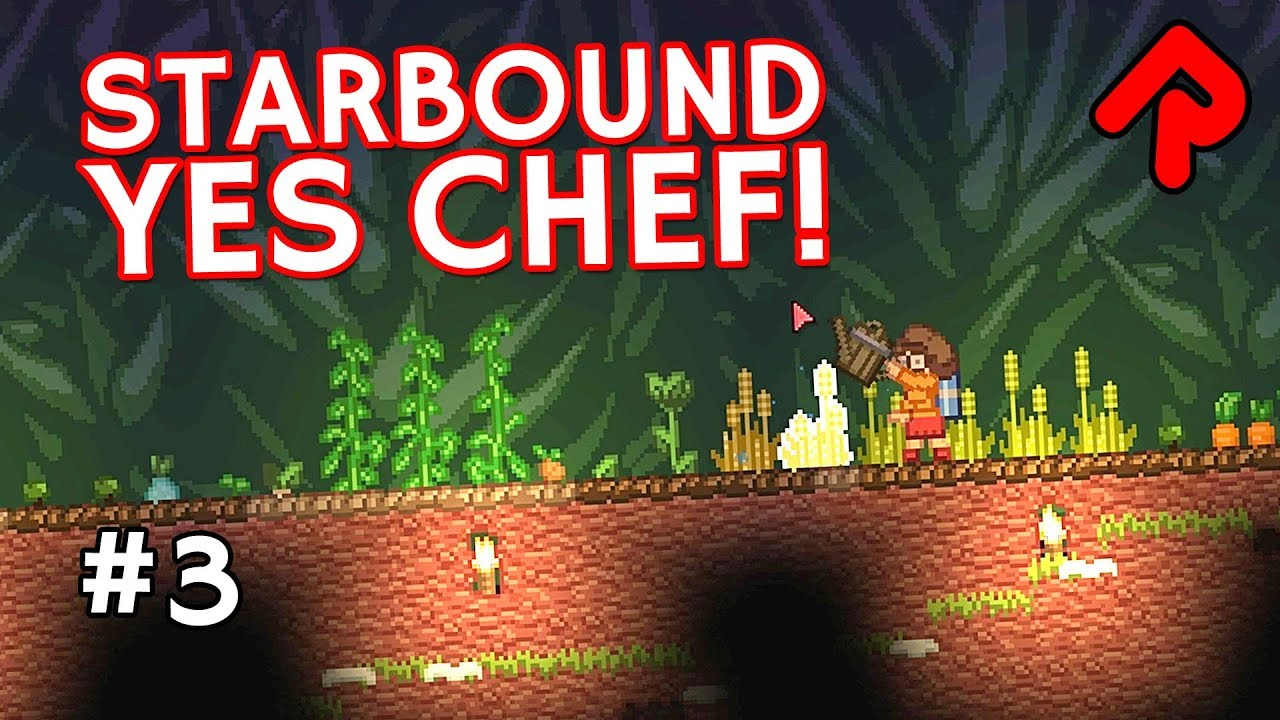 Farm of a Thousand Crops! | Let's play Starbound Yes Chef! ep 3 (Yes Chef &  More Farming mods)
