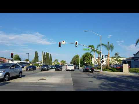 Driving San Bernardino Rd in Covina, California