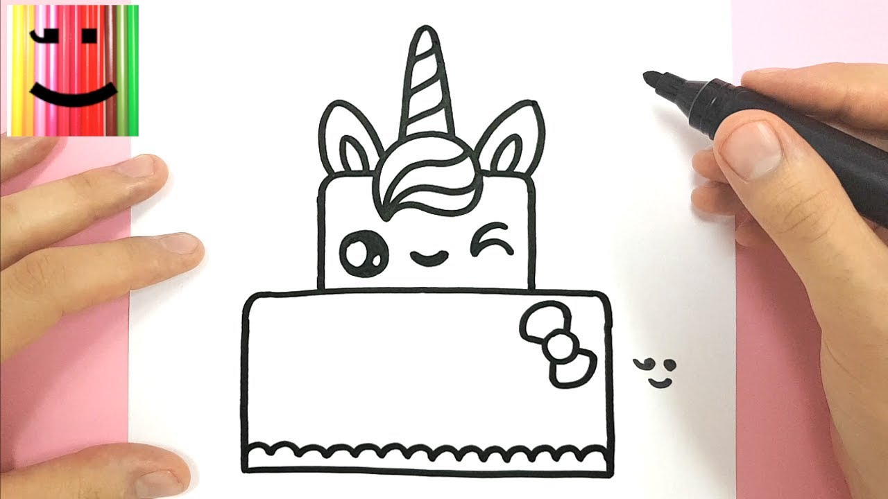 Comment Dessiner Un Gateau Licorne Kawaii Youtube