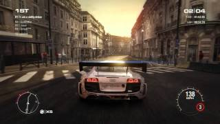 GRID 2 PC Multiplayer Race Gameplay: Tier 4 Fully Upgraded Audi R8 LMS Ultra in Paris