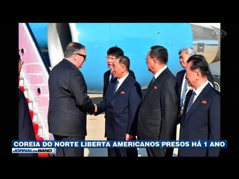 Coreia Do Norte Liberta Americanos Presos Há Um Ano