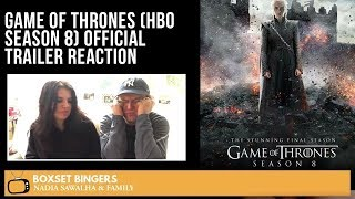 Game Of Thrones (HBO Season 8) Official TRAILER - Nadia Sawalha & Family Reaction