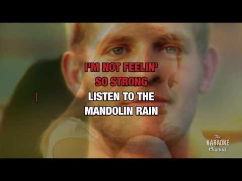 Mandolin Rain in the style of Bruce Hornsby & the Range | Karaoke with Lyrics