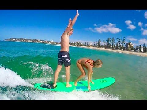 TANDEM SURF FAIL & WAKE-SURFING SYDNEY