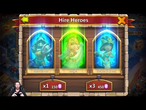 IS 500,000 Gems Enough To Roll DOVE Keeper LETS FIND OUT! Castle Clash