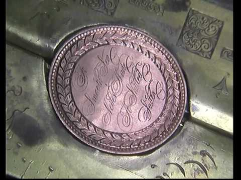 Hand engraving Ornate Lettering