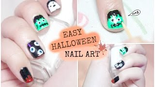 Easy Halloween Nail Art Using Toothpick And Bobby Pin ☠  • heartcindy Thumbnail