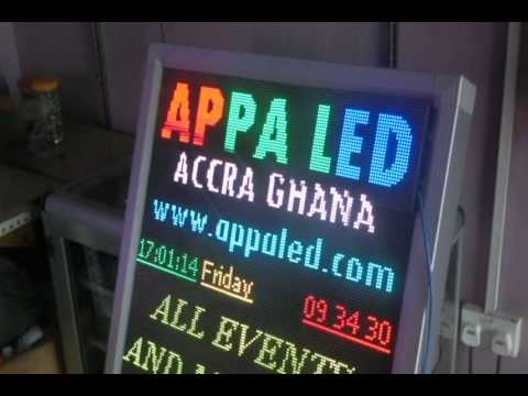 Samlpes of Red n Full colour led screens for clients from Appa Led