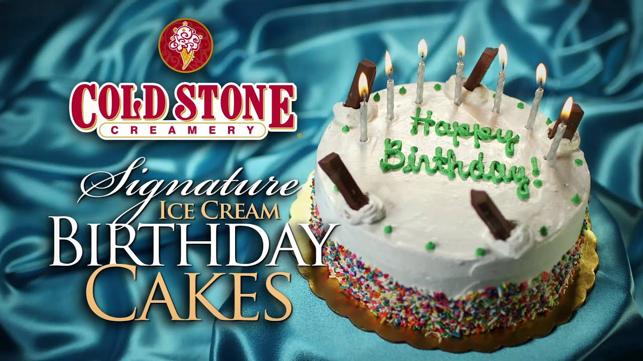 Cold Stone Creamery Birthday Cakes Youtube