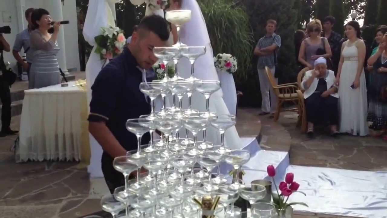Пирамида из шампанского своими руками