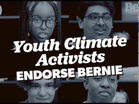 Youth Climate Activists Endorse Bernie for President