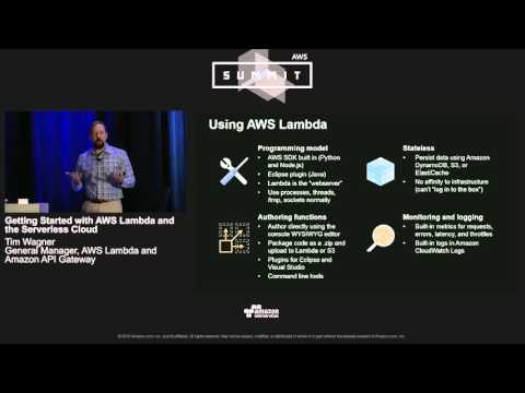 AWS Summit Chicago 2016: Getting Started with AWS Lambda and the Serverless Crowd