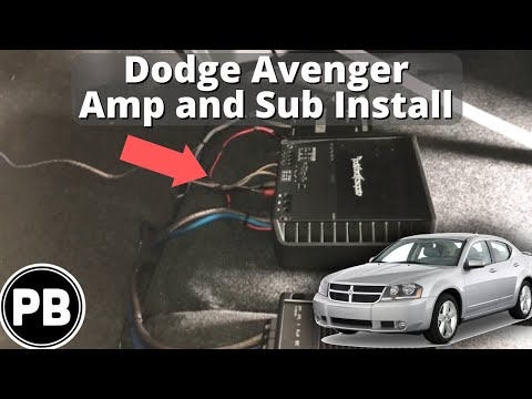 2007 - 2014 Dodge Avenger Amplifier and Subwoofer Install - YouTube