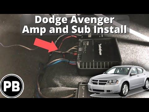 2013 dodge avenger radio wiring harness 2007 2014 dodge avenger amplifier and subwoofer install youtube  2007 2014 dodge avenger amplifier and