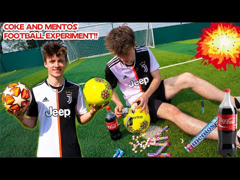 Coke and Mentos Experiment! Will the Football Explode??