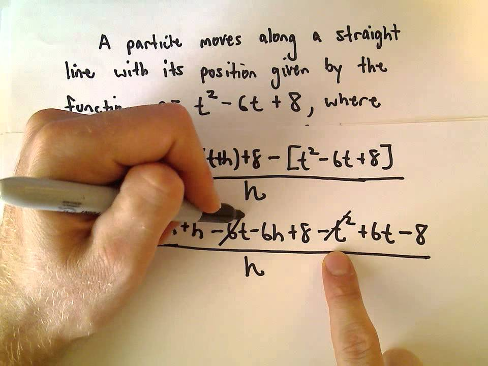how to find velocity using derivatives