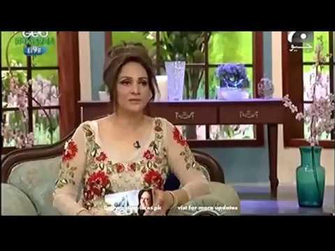 Look how bushra ansari dress up in morning show   Video