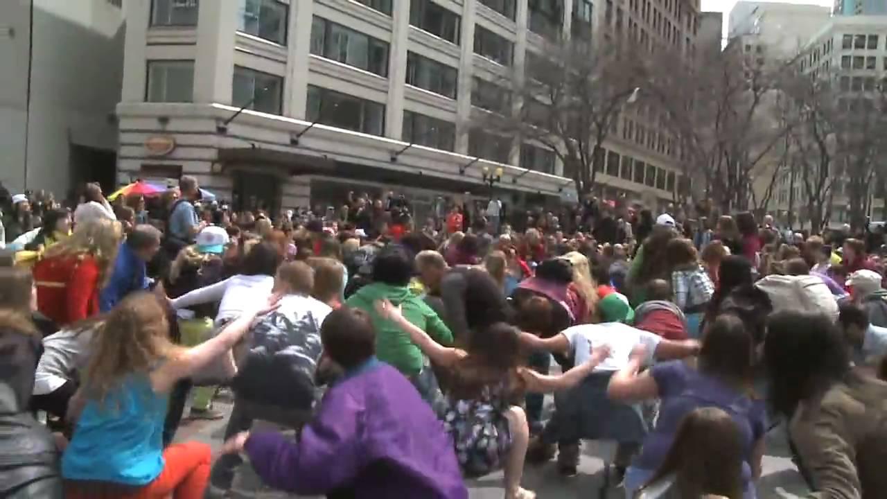 Official Seattle Glee Flash Mob Video - Seattle, Westlake