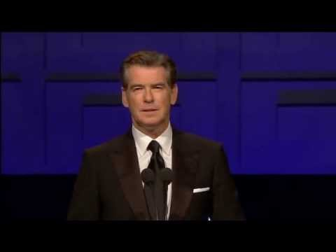 President Mary McAleese speaks at the Irish Film & Television Awards 2011, intro by Pierce Brosnan