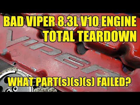 TOTAL TEARDOWN! BLOWN UP Dodge Viper 8.3L V10 Engine, What Let Go?