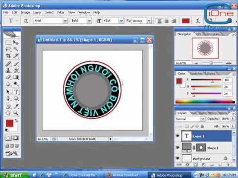 Hướng dẫn tạo con dấu vui trong Photoshop - CiOneYNKclup.flv