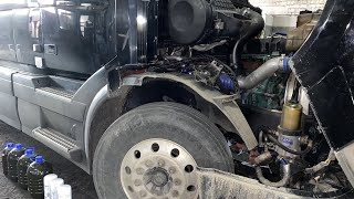 Установка двс Volvo d13c заместо Камминс 15 ISX. Полная замена двигателя Cummins на Вольво VNL