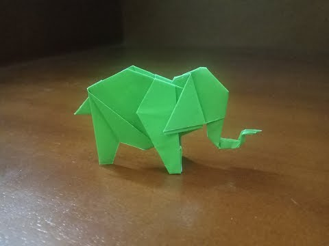 How To Make A Paper Origami Easy Elephant