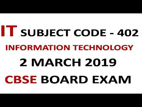 Information Technology Book For Class 10 Cbse Code 402