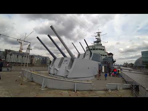 London VIP Sightseeing with Paul Ranky Part9 H.M.S. Belfast (1939-1963) Royal Navy  4K