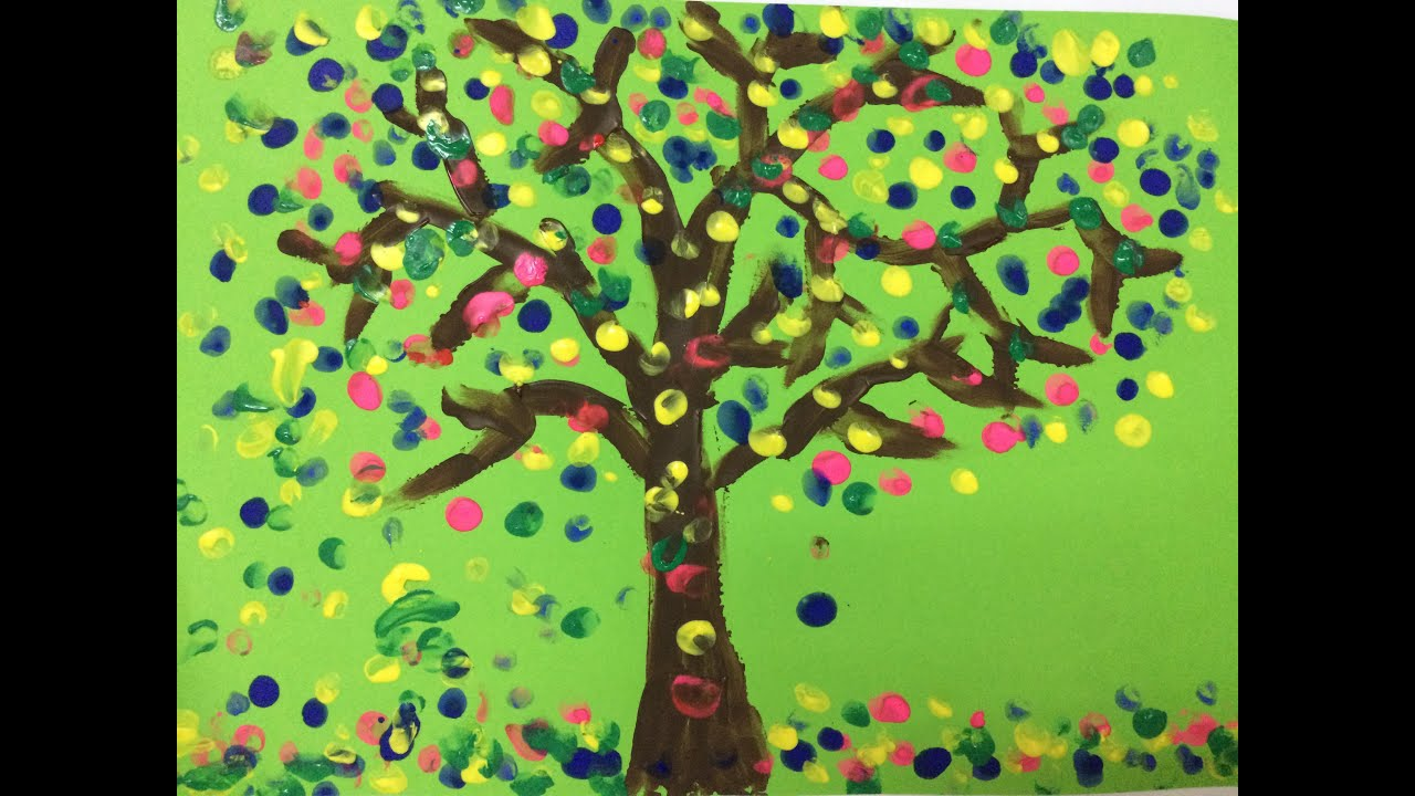 painting for kids how to draw a tree for kids landscape painting for kids art for kids youtube