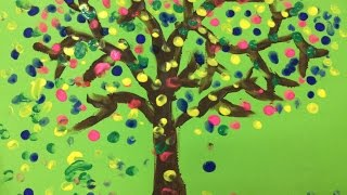 Painting for kids | How to draw a tree for kids | Landscape painting for kids | Art for kids