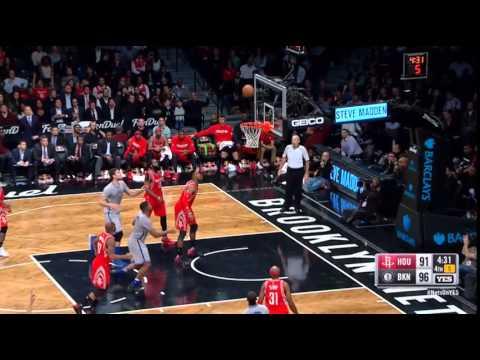 Markel Brown Brooklyn Nets Three-Pointer vs Rockets on 12/8/15