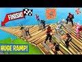 5 SHOPPING CARTS 1 HUGE RAMP RACE! (Fortnite FAILS & WINS #10)