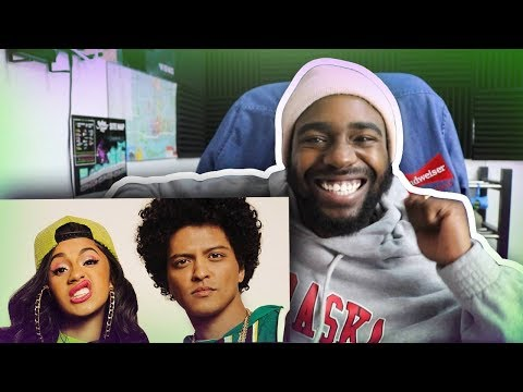 REACTING TO Bruno Mars  Finesse Remix Feat Cardi B