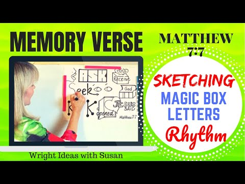 BIBLE MEMORY Verse (Matthew 7:7)  by SKETCHING, RYTHYM & BOX LETTERS *CHILDREN