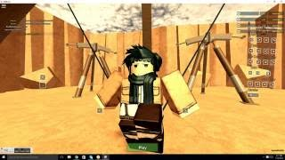 Today i am playing Attack on Titan| Roblox