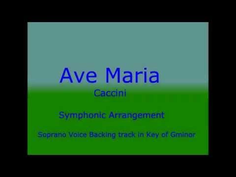 Ave Maria - Caccini - Instrumental Orchestra (Opera Karaoke for soprano voice)