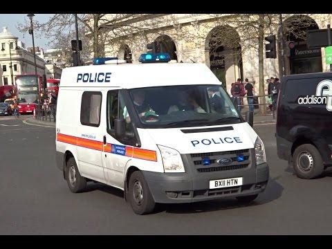 London Metropolitan Police Van Responding