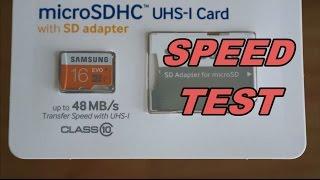 SAMSUNG 16GB EVO microSDHC SPEED TEST