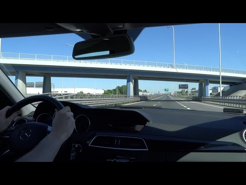 2014 Mercedes-Benz C-Class W204 C200 part 4 TEST DRIVE INNER CITY Fuel Consumption Review