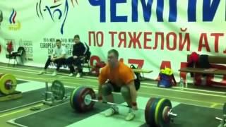 Gennady Muratov 220kg push jerk