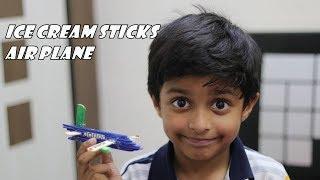 How to make Aeroplane with Ice Cream sticks | Easy ice cream stick craft | DIY Craft Idea