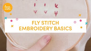 Embroidery Basics - Fly stitch