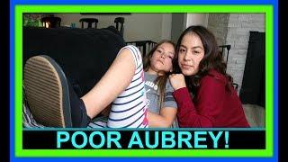 POOR AUBREY! | DID SHE BREAK HER FOOT?