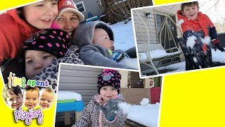 BABY SLEDDING for the first time and has SNOWBALL FIGHT   Where are we Wednesdays! Ep. 1