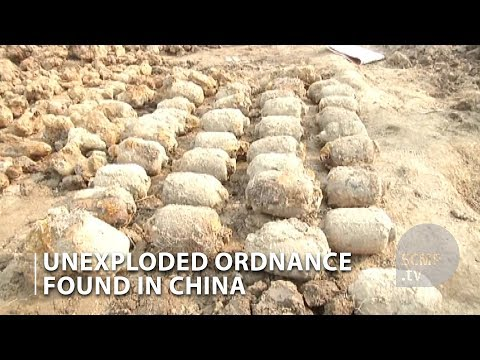 Unexploded ordnance found in north China