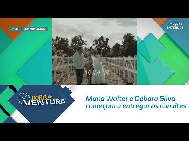 Mano Walter e Débora Silva começam a entregar os convites do casamento - Bloco 01
