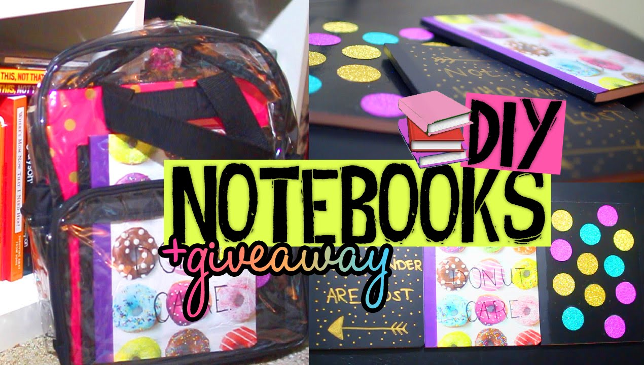 Diy glitter notebook cover - Diy Notebook Covers For Back To School Easy Affordable Ideas Giveaway Meetup