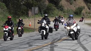 Mulholland Riders - Cops , Fast Bikes , No Music , Arrest , McLaren 720s , BMW S1000rr